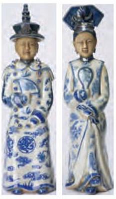Chinese Beeldjes - 2 stuks hoog 32 cm  1 stuk