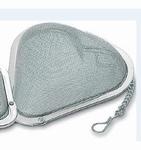 Thee-bolletje stainless steel 7 cm hartmodel 1 stuk
